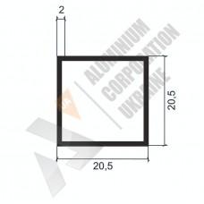 Алюминиевая труба квадратная <br> 20,5х20,5х2 - БП АК-2243-73 1