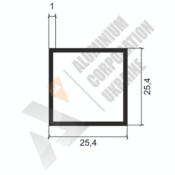 Алюминиевая труба квадратная | 25,4х25,4х1 - БП 03-0097