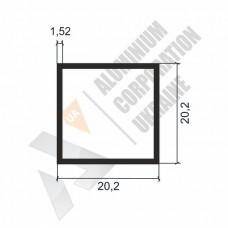 Алюминиевая труба квадратная <br> 20,2х20,2х1,52 - АН AP002OK-70 1