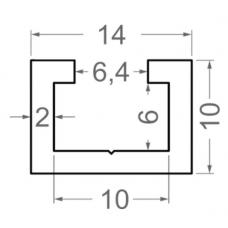 Алюминиевый станочный профиль t track 14х10 - АН 4590 1