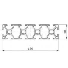 Алюминиевый станочный профиль 120х30 - АН 2581 1