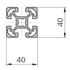 Алюминиевый станочный профиль 40х40 - АН 11111 1