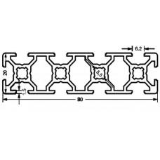 Алюминиевый станочный профиль 80х20 - АН 3598 1