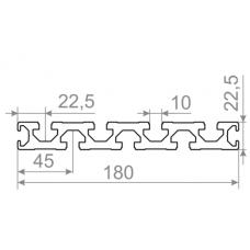Т трек алюминиевый станочный профиль  t track <br> 180х22,5 - БП 5896 1