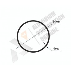 Алюминиевая труба круглая 34х4 2242 1