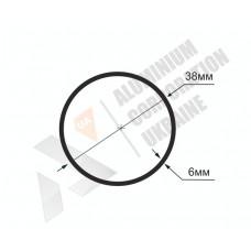 Алюминиевая труба круглая 38х6 21030 1