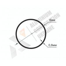 Алюминиевая труба круглая 6х0,8- БП 00205 1