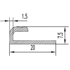 Алюминиевый профиль L-образный 20х7,5х1.5 - АН 00456 1