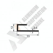 Алюминиевый профиль L-образный 33х12х2.5 - АН 00230 1