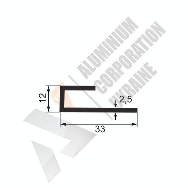 Алюминиевый профиль L-образный | 33х12х2,5 - АН 32-0007
