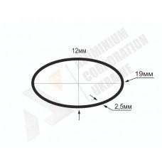 Алюминиевая труба овальная 19x12x2,5 - АН БПЗ-0354 1