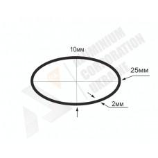 Алюминиевая труба овальная 25x10x2 - БП БПЗ-1780 1