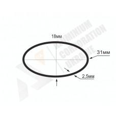 Алюминиевая труба овальная 31x18x2,5 - АН БПЗ-0914 1