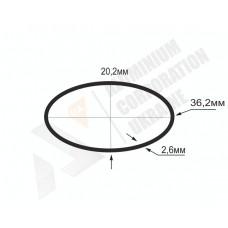 Алюминиевая труба овальная 36,2x20,2x2,6 - БП БПЗ-0945 1