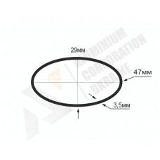 Алюмінієва труба овальна <br> 47х29х3,5 - БП 07-0024 1