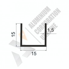 Алюминиевый швеллер П-образный профиль <br> 15х15х1,5 (12 мм) - БП 00468 1