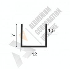 Алюминиевый П-образный профиль <br> 12х7х1,5 (9мм) - АН 00487 1