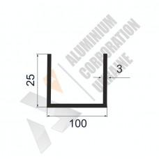 П-образный профиль 100х25х3 - БП 0205 1