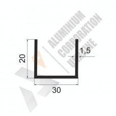 Алюминиевый швеллер П-образный профиль 30х20х1.5 - АН 0750 1