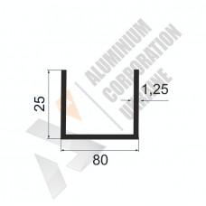 П-образный профиль  80х25х1.25  - АН 0202 1