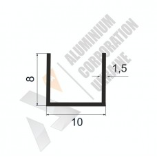 Алюминиевый швеллер П-образный профиль <br> 10х8х1,5 - БП 00381 1