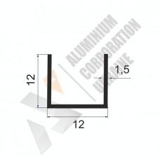 Алюминиевый швеллер П-образный профиль <br> 12х12х1,5 - БП 00042 1