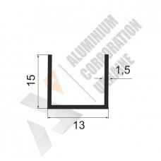Алюминиевый швеллер П-образный профиль <br> 13х15х1,5 - БП 00145 1