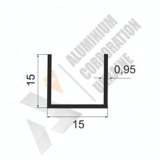 Алюминиевый швеллер П-образный профиль <br> 15х15х0,95 - АН 00211 1