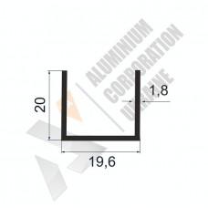 Алюминиевый швеллер П-образный профиль <br> 19,6х20х1,8 - БП 00043 1