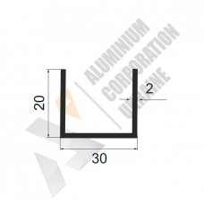 П-образный профиль 30х20х2 - АН 00272 1