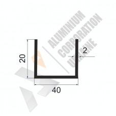 П-образный профиль 40х20х2 - АН 00224 1