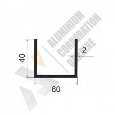 П-образный профиль 60х40х2 5 1