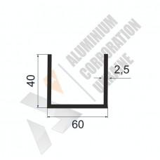 П-образный профиль 60х40х2,5 (55мм) - АН 00398 1