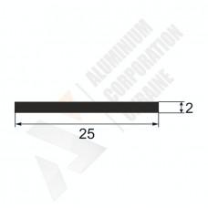 Алюминиевая полоса <br> 25х2 - БП 25-0117 1