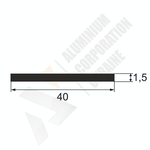 Алюминиевая полоса | 40х1,5 - АН 00303