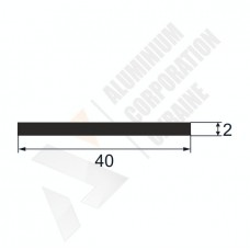 Алюминиевая полоса 40х2 - АН 00009 1