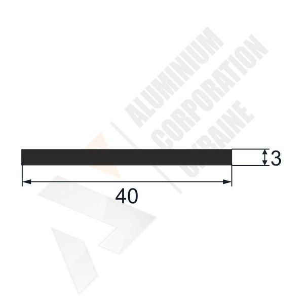 Алюминиевая полоса   40х3 - БП 00324