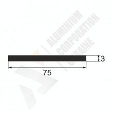 Алюминиевая полоса 75х3 - АН 00012 1