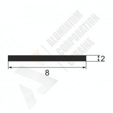 Алюминиевая полоса 8х2 15 1