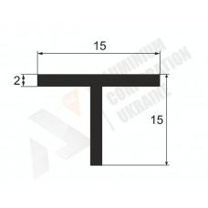 Т-образный профиль (Тавр алюминиевый) <br> 15х15х2 - БП 00462 1