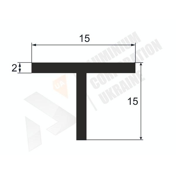 Т-образный профиль (Тавр алюминиевый) | 15х15х2 - БП 00462
