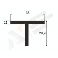 Алюминиевый Т профиль тавр 38х29,9х3 - БП  1364 1