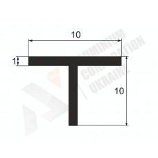 Алюминиевый тавр 10х10х1 10 1