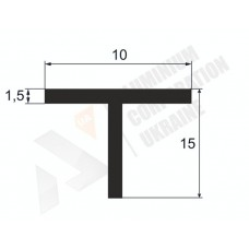 Алюминиевый тавр 15х10х1.5 9 1