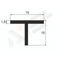 Алюминиевый тавр 15х15х1.5 8 1