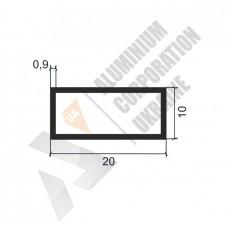 Алюминиевая труба прямоугольная 20х10х0,9 - АН 0043 1