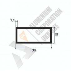 Алюминиевая труба прямоугольная 30х10х1,5 - БП 0401 1