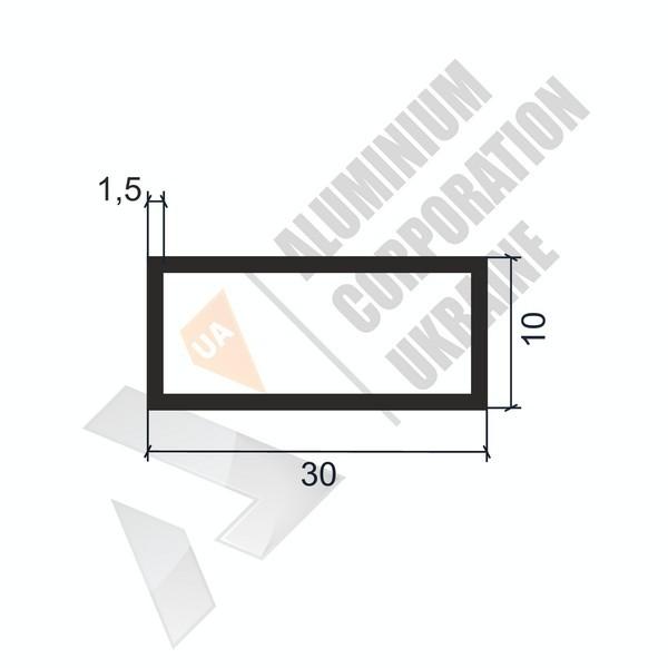Алюминиевая труба прямоугольная | 30х10х1,5 - БП 05-0107