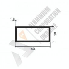 Алюминиевая труба прямоугольная  40х10х1.8 - БП 0402 1
