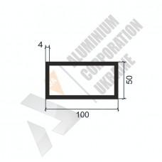 Алюминиевая труба прямоугольная <br> 100х50х4 - БП 00127 1